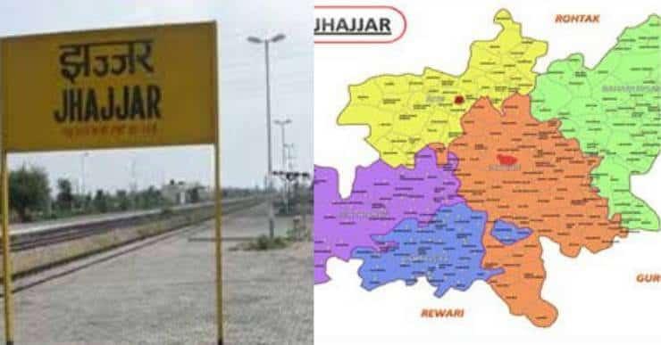 jhajjar district map