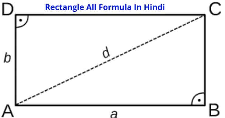 Rectangle Formula In Hindi
