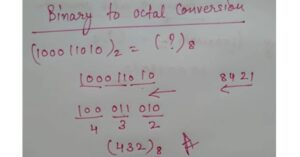 Binary to octal conversion in hindi