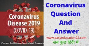 coronavirus question