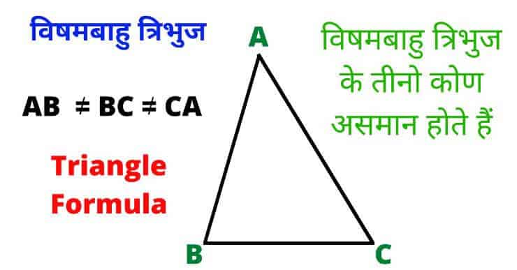 Scalene Triangle In Hindi