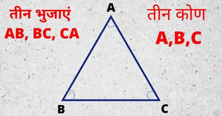 Triangle in hindi